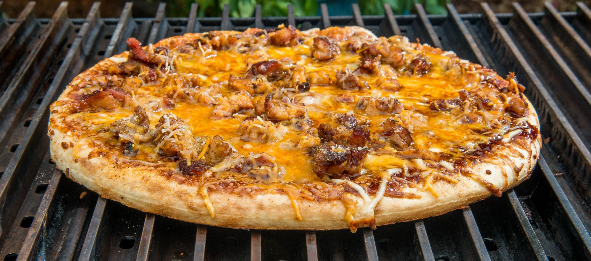 Barbecue Pulled Pork Pizza Grillgrate