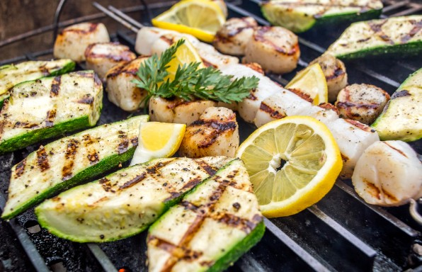 Simple Grilled Shrimp and Scallops