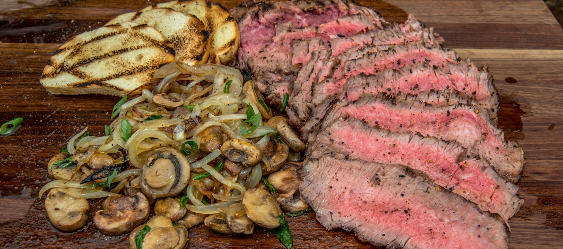Grilled Flank Steak with GrillGrate